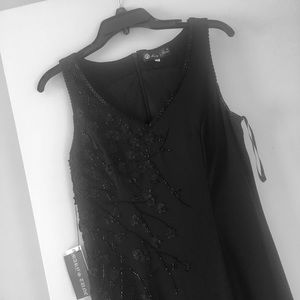 Dresses & Skirts - BRAND NEW 90s VINTAGE BLACK BEADED GOWN